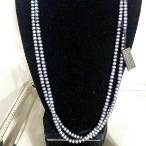"""47""""long freshwater Cultured pearl 37 inch necklace"""